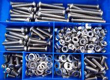 355 Teile Edelstahl Linsen Schrauben Muttern Sortiment Box M4 - M8 ISO 7380 VA