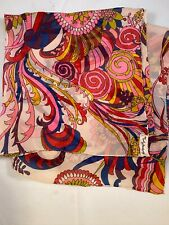 Vintage Emily Wetherby Silk Sheer Chiffon Scarf Colorful Pink Purple 19x40�