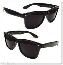 2 Pair 80's Soul Man Blues Brothers Wayfarer Super Dark Smoke Lens Sunglasses