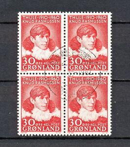 SABD 422 GREENLAND 1960 USED BLOCK OF 4 RASMUSSEN PERSON