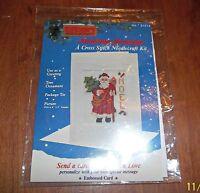 Cross Stitch Kit Embossed Santa Noel 01013 Titan Needlecraft Christmas Greetings