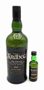 Ardbeg Quadrant 10 Jahre Whisky 1x 0,75l 1x 0,05l Alkohol 46,5% 54,2% vol.