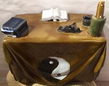 Ceramic Witchcraft Wiccan Altar Yin Yang Magic Wand Spell Books Unique Item VGUC