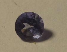 Iolith : 4mm rund im Facettenschliff - blau-transparent- ca. 0,15 carat