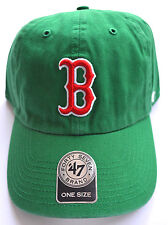 **NEW** BOSTON RED SOX ST PATRICKS DAY GREEN SHAMROCK HAT CAP BY '47 BRAND