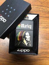 Retired Unstruck Zippo Lighter - Bob Marley 28426 Rare VHTF Rast Reggae Legend