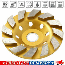 "New 4"" Diamond Segment Grinding Wheel Disc Grinder Cup Concrete Stone Cut BT US"