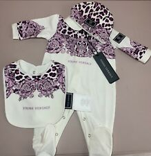 Versace Baby Grow Baroque Print Gift Set RRP £275