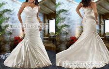 New Strapless Sweetheart Mermaid Trumpet Plus Size Bridal Wedding Dress Custom