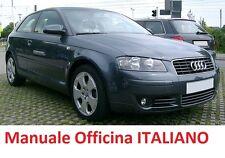 AUDI A3 Seconda Serie 2° mk2 8P/8PA Manuale Officina Riparazione in ITALIANO