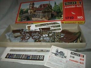 A6433 HO FALLER 1710 GERMANY CASTLE GATE TOWER, plastic kit