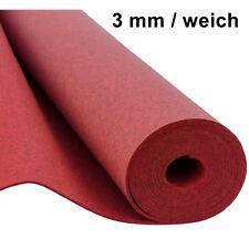 Filz Taschenfilz 0,5lfm Meterware 3mm stark 1,5m breit weich soft Rot meliert
