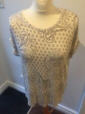 GREAT LADIES CREAM & BEIGE TOP BY MARKS AND SPENCER COLLECTION SIZE 18 BNWT