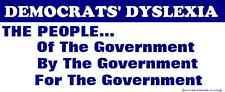 GOP Anti Democrat Party Bumper Sticker Funny