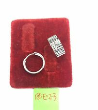 Gold Authentic 18k saudi white gold earrings,,