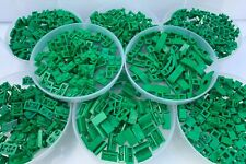 LEGO - 10 Pieces Of Each Shape = 80 Pieces Total / Green Bracket Slope Corner ..
