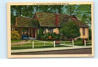 Cairo Georgia GA Club House of Cairo Woman's Club Vintage Linen Postcard D46