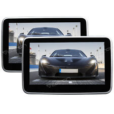 """Portable Android 2x10.1"""" TouchScreen Car DVD Player Headrest Monitor Pillow WiFi"""