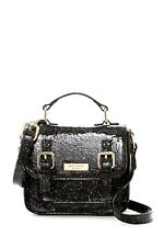 Kate Spade New York Scout Black Glitter Satchel Tiny Mini Small Bag Crossbody