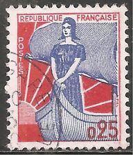France Stamp - Scott #942/A328 25c Vermilion & Ultra Canc/LH 1960