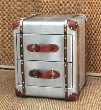 aluminium Aviator Bedside Trunk Chest Home Furniture Storage antique