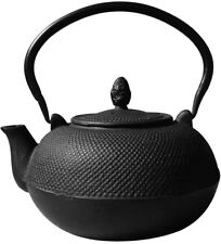 Old Dutch 3 L Hakone Matte Black Cast Iron Teapot/ Wood Stove Humidifier Kettle
