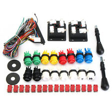 NEW Arcade JAMMA 60 in 1 Kit w/ 2 Joysticks 4/8 way & 16 HAPP Push Buttons MAME