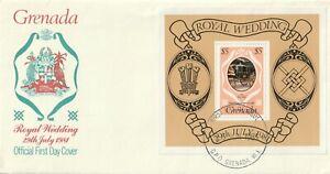1981 Grenada FDC cover Royal Wedding - Lady Diana and Prince Charles