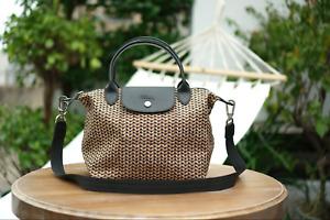 NEW TYPE Longchamp Le Pliage NEO Medium KHAKI Shoulder Tote Bag - VERY RARE