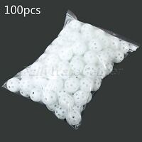 41mm 100Pcs Golf Practice Balls  Airflow Hollow Plastic Tennis Training