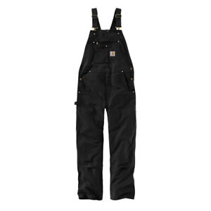Carhartt Duck Bib Overalls UNLINED R01 (102776)  (select color and size)