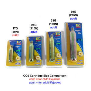 CO2 Rearming Kit for Automatic PFD Inflatable Life Jacket Vest CO2 Replacement