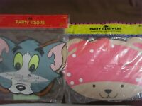 Ambassador 2 pkg. of 8 Party Headwear Visors Sylvester & Girl Bear n/in pkg.