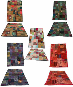 Indian Tapestry Wall Hanging Patchwork Hippie Table Runner Throw Cover 1.5m x 1m