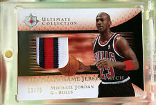 2005-06 Ultimate Collection Michael Jordan 3x Color Game Used Patch Bulls ujp-mj