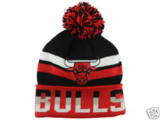 """Chicago Bulls Mitchell and Ness """"NBA Trifecta Cuffed Pom Knit Toque"""