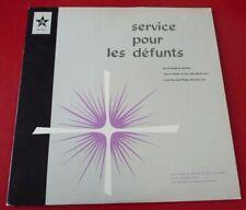 Rare Classical French Christian Religious Album - Service pour les Défunts