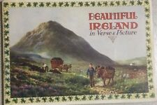 BEAUTIFUL IRELAND in Verse & Picture (circa 1930) Valentine & Sons 52 pgs color