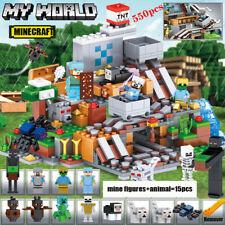 550pcs DIY Minecraft My World Series Mini figure Building Blocks Fit Lego