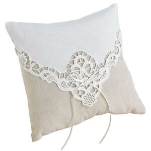 tan ivory lace ring pillow wedding ring bearer pillow wedding Ringbearer