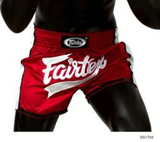 Fairtex Muay Thai Shorts Slim Cut Bs1704 Size L Red White