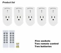 Century Wireless Remote Control Outlet Switch Power Plug In for lights LED bulbs