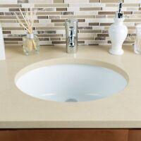 "White Porcelain Bathroom Vanity Sink - 17"" x 14"" Bowl Size"