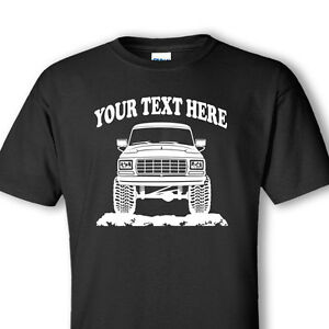 BRONCO - F150 F250 F350 FORD  TRUCK - 1979 - 4x4 PERSONALIZED T-SHIRT - #OR005