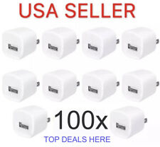 100x USB Wall Charger Plug Home Power Adapter (Lot of 100)