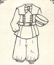 "Period clothes Boy Man outfit French German Pattern for a 17"" 18"" Doll 708"