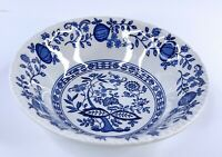 Vintage Enoch Wedgwood England Tunstall Heritage Blue Onion Soup/Salad Bowl