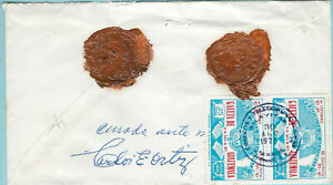 GUATEMALA 1974 REGISTERED AND INSURED COVER WITH WAX SEALS  (WS403)
