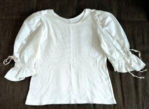 Trachten Shirt, Corsage, Blusenshirt, Baumwolle/Elasthan, Gr. 46