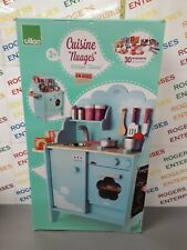 Vilac 8107 Sky Blue Clouds Wooden Toy Kitchen Unit 30 Accessories NEW Box Tatty